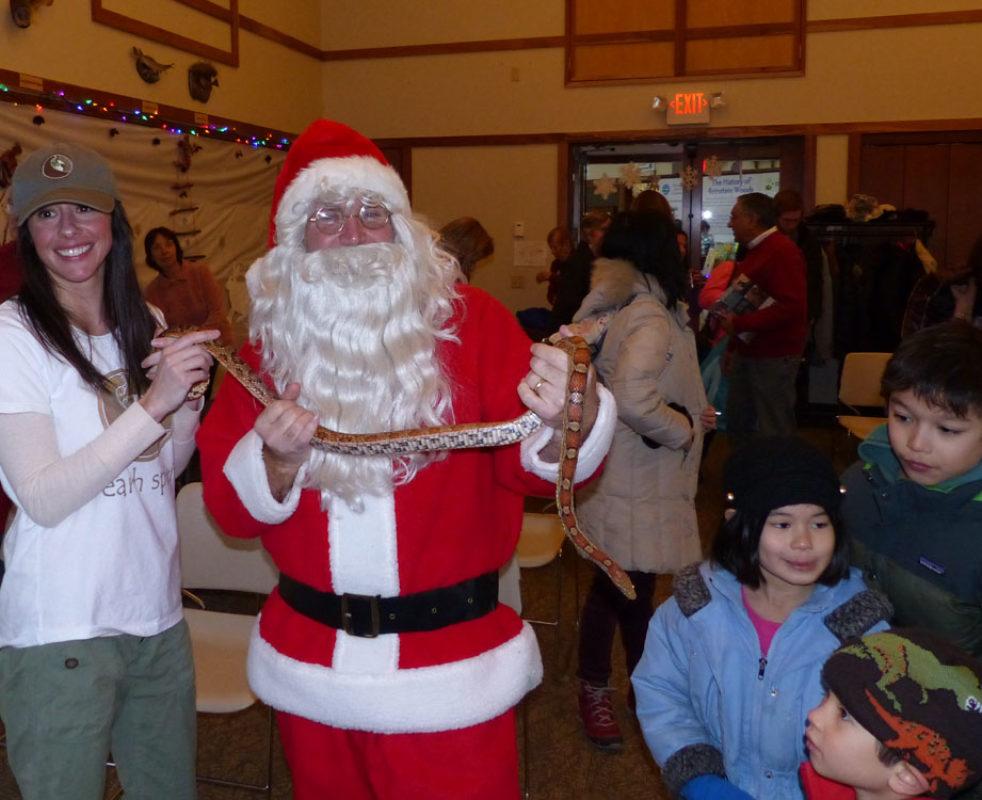 Santa and Corn Snake