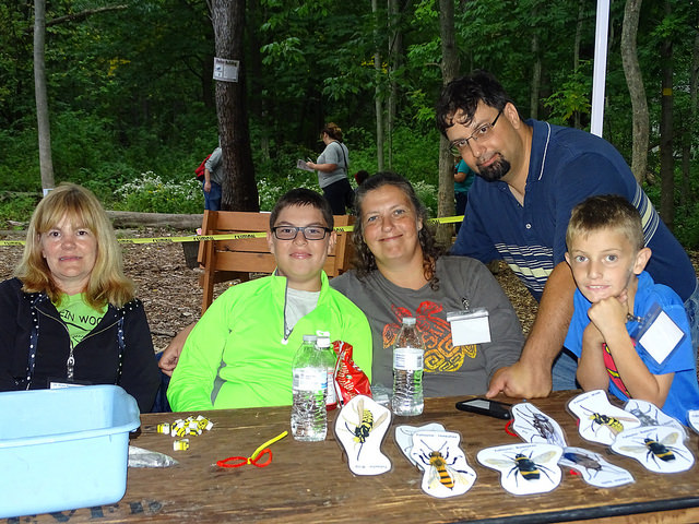 pollinator game volunteers at Fall Fest